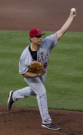 Jason Vargas - Vargas pitching for the Los Angeles Angels of Anaheim in 2013