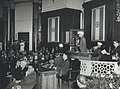 "Jawaharlal Nehru addressing the Plenary session of the UNESCO Symposium on the ""Concept of Men and the Philosophy of Education in the East and West"".jpg"