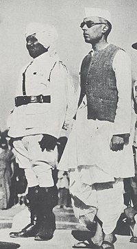 Jawaharlal Nehru as President of the Lucknow session of the Congress, April 1936.jpg