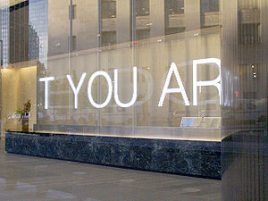 Jenny Holzer - Detail of 7 WTC installation