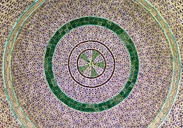 Jerusalem-2013(2)-Temple Mount-Dome of the Chain (dome interior).jpg