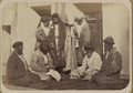 Jewish Wedding Rituals. Two Men Representing the Families of the Bride and Groom Finalizing the Wedding Agreement WDL10711.png