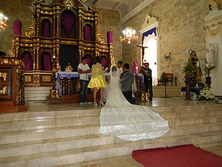 Wedding mass in the Philippines Jf9694Wedding San Nicolas Church Tolentine Marriage Pampangafvf 02.JPG