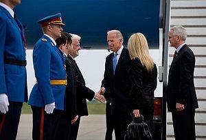 Mirko Cvetković - Mirko Cvetković with U.S. Vice President Joseph Biden.