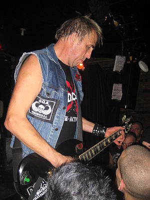 Joe Keithley - Joey Keithley playing in Montreal with D.O.A. 2010.