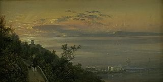 View from the Hills above Castellamare at Naples