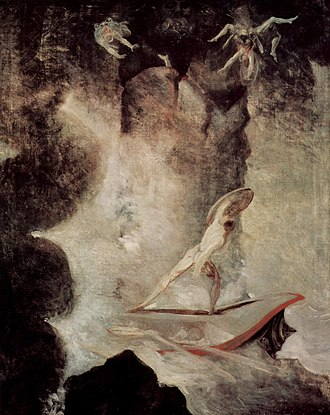 Between Scylla and Charybdis - Henry Fuseli's painting of Odysseus facing the choice between Scylla and Charybdis, 1794/6