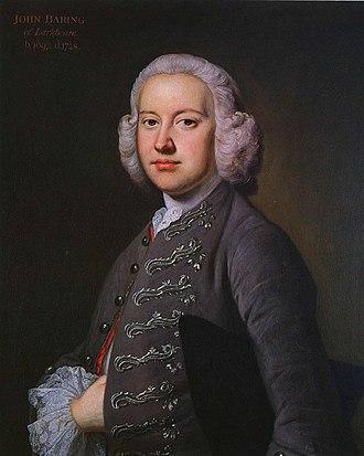 Johann Baring - Image: John Baring (1697 1748)