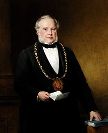 Sir John Brown wearing mayoral chain of Sheffield