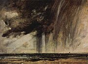Constable's Seascape Study with Rain Cloud c.1824