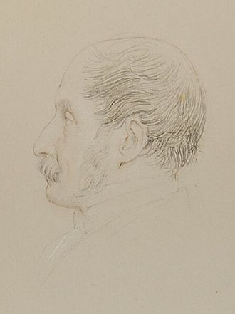 John Gough Nichols - John Gough Nichols, 1868 drawing by Leonard Charles Wyon