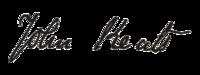 Firma di John Keats