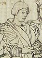 John More the Younger, Detail of Study for portrait of the More family, by Hans Holbein the Younger.jpg