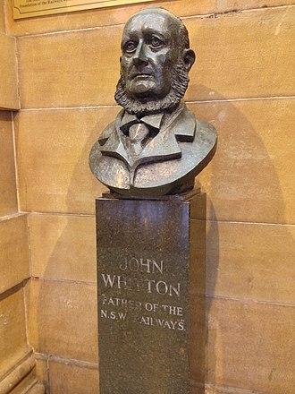 John Whitton - John Whitton bust at Central station