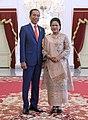 Joko Widodo and Iriana at Merdeka Palace, Jakarta in October 2019.jpg