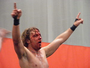 Dean Ambrose - Moxley after defending the CZW World Heavyweight Championship against Nick Gage in 2010