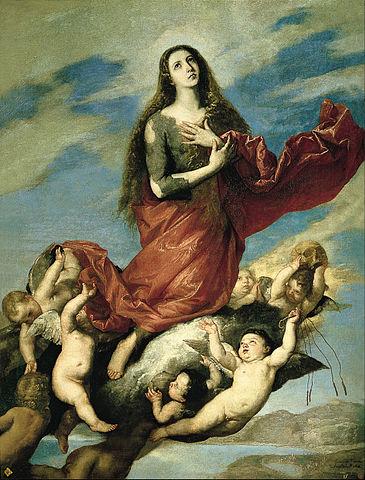 «Вознесение Марии Магдалины», картина Хусепе де Рибера, 1636