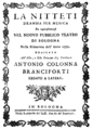 Josef Mysliveček - Nitteti - titlepage of the libretto - Bologna 1770.png