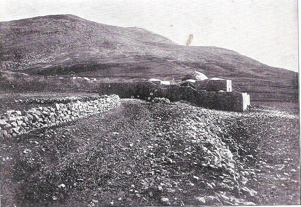 Joseph's Tomb and Mount Ebal (before 1899)