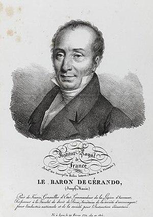 Société des observateurs de l'homme - Joseph-Marie de Gérando.