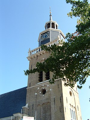 Joure - Jouster Toren (Tower of Joure) to a Dutch Reformed Church