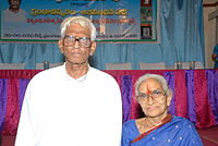Juvvada Gautam Raju and his wife.JPG