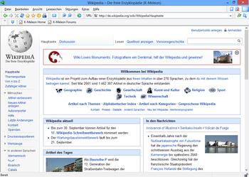 K-Meleon 1.5.4 under Windows 8