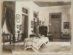 KITLV 12553 - Kassian Céphas - The rear gallery of the residency at Yogyakarta - Around 1896.tif