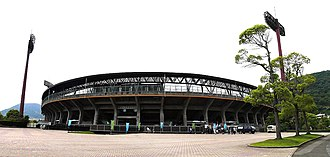 Kagawa Prefectural Baseball Complex - The Front of Baseball Complex