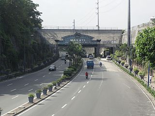 Kalayaan Avenue road in the Philippines