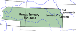 Location of Kansas Territory