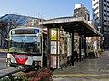 Kanto Bus B1805 at Musashi-Sakai Station.jpg