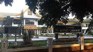 Langkat Regency - The Langkat regent's office