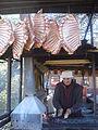 Karachayevsk, Republic of Karachayevo-Cherkessya, Caucasus, Russia. Shashlik maker near Kuban river..JPG