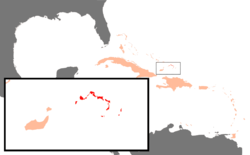 Turks and Caicos Islands position in the North Atlantic Ocean