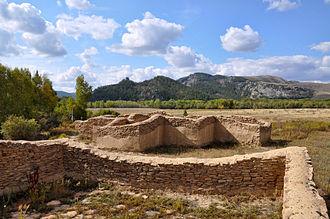 Kazakhstan - Kyzyl Kensh Palace Ruins in Karkaraly National Park.