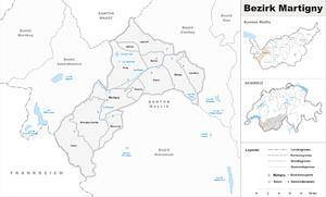 Martigny District) - Image: Karte Bezirk Martigny 2007