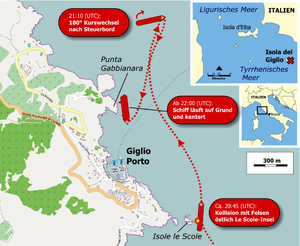 Karte der Havarie der Costa Concordia (13-1-2012).png