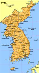 korea karte Koreanische Halbinsel – Wikipedia