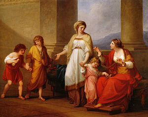 Cornelia Africana - Cornelia, Mother of the Gracchi (1785) by Angelica Kauffman
