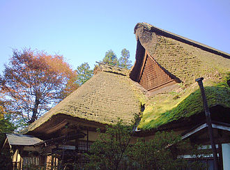 Housing in Japan - A house with an old-style thatched roof near Mount Mitake, Tokyo