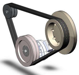 Belt (mechanical) - A pair of v-belts