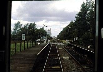 Kempston Hardwick railway station - Image: Kempston Hardwick railway station in 1984