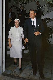 Golda Meir e John Fitzgerald Kennedy nel 1962