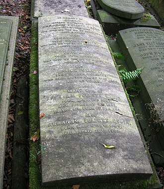 A. Follett Osler - Grave of A. Follett Osler, his wife Mary, and four of their daughters, in Key Hill Cemetery, Hockley