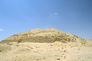 Huni - The Layer Pyramid, attributed to Khaba, who may be the same person as Huni.