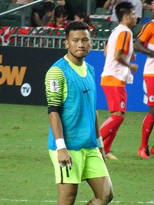 Khairulazhan Khalid - Khairulazhan warming up for Malaysia in 2017
