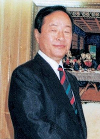 Kim Young-sam - Image: Kim Young sam meets with Rev. Dr. Jaerock Lee at Manmin Central Church (cropped)