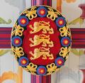 King's Bedchamber Stirling Castle, Order of the Garter Ceiling Boss (5898026060).png