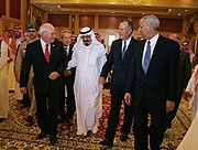 King Abdullah with Dick Cheney George H.W. Bush, August 2005